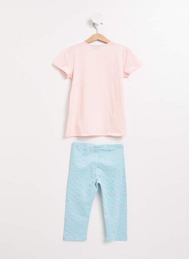DeFacto Frozen Lisanslı Pijama Takımı Pembe